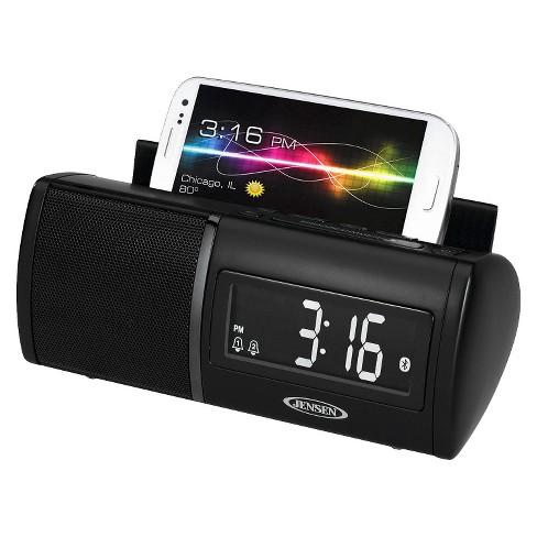JENSEN® JBD-100 Bluetooth Clock Radio - Black - image 1 of 5