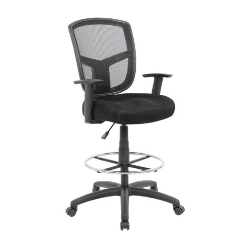 Mesh Drafting Stool Black - Boss Office Products - image 1 of 4