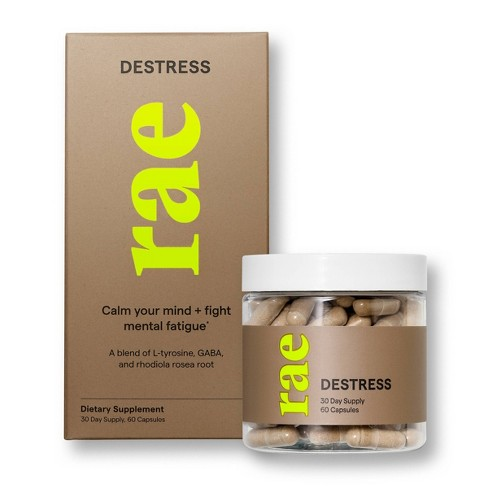 Rae Destress Dietary Supplement Capsules - 60ct - image 1 of 3