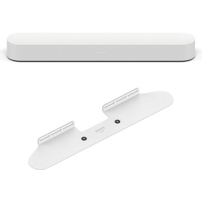 Sonos Beam Compact Smart Sound Bar with Wall Mount