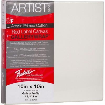 Fredrix Gallerywrap Stretched Canvas, 10 x 10 in