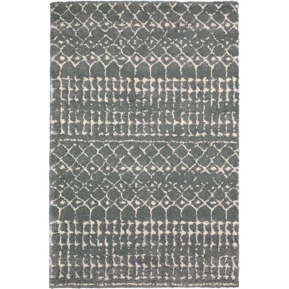 2 39 3 34 X7 39 5 34 Runner Lucienne Aztec Geometric Silver Addison Rugs