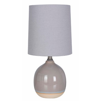 Round Ceramic Table Lamp Gray (Lamp Only)- Threshold™