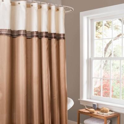 Terra Shower Curtain Beige/Ivory - Lush Décor