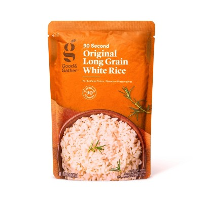 90 Second Long Grain White Rice Microwavable Pouch  - 8.8oz - Good & Gather™