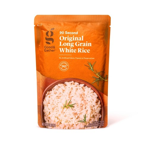 Original Long Grain White Rice Microwavable Pouch  - 8.8oz - Good & Gather™ - image 1 of 2