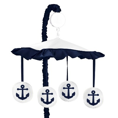 Sweet Jojo Designs Anchors Away Musical Mobile - Navy