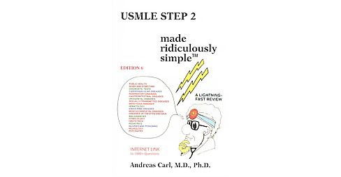 USMLE Step 2 Made Ridiculously Simple (Paperback) (Andreas Carl) - image 1 of 1