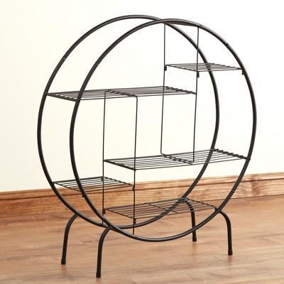 Lakeside Freestanding Round Wire 5-Shelf Organizer for Home Storage