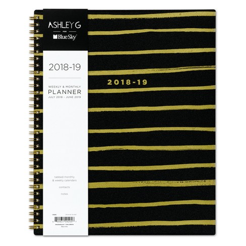 "2018-19 Academic Gold Foil Striped Planner 8.5"" x 11"" - Ashley G - image 1 of 4"