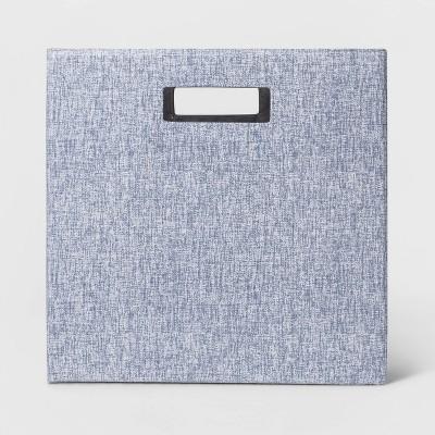 "13"" Fabric Cube Storage Bin Blue - Threshold™"