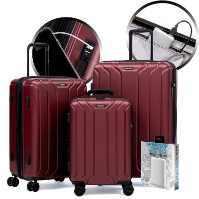 "NONSTOP NEW YORK Collection 3 Piece Set (20""/24""/28"") + PowerBank 4-Wheel Luggage Sets + PowerBank"