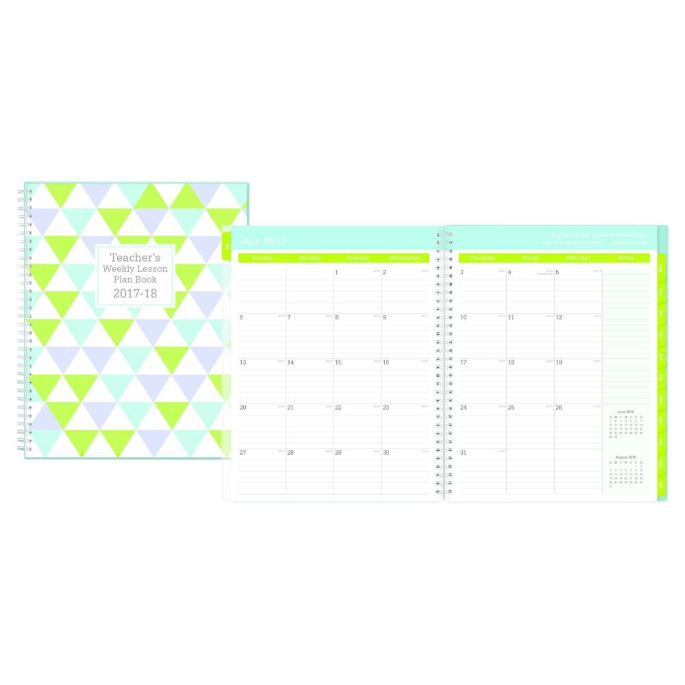2017-2018 Blue Sky Teacher Lesson Planner - Triangles, Green