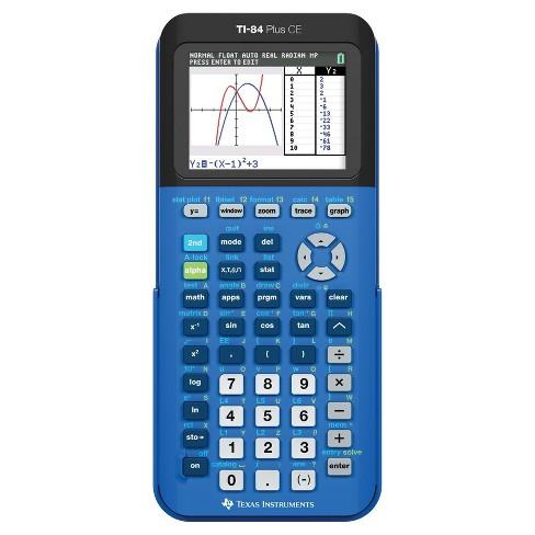 TI-84 Plus CE Graphing Calculator - Blue (TI-84+CE ...