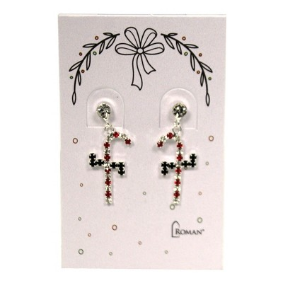 "Jewelry 1.0"" Christmas Earring Pierced Post Stones  -  Costume Jewelry"