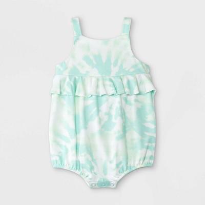 Baby Girls' Tie-Dye Romper - Cat & Jack™ Mint