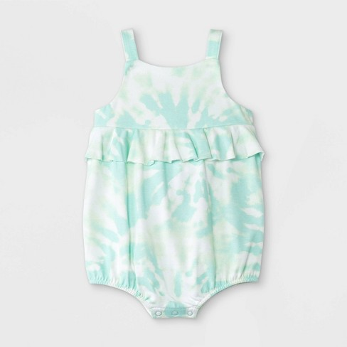 Baby Girls' Tie-Dye Romper - Cat & Jack™ Mint - image 1 of 2