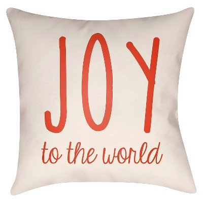 Cream Season's Joy Throw Pillow 16 x16  - Surya