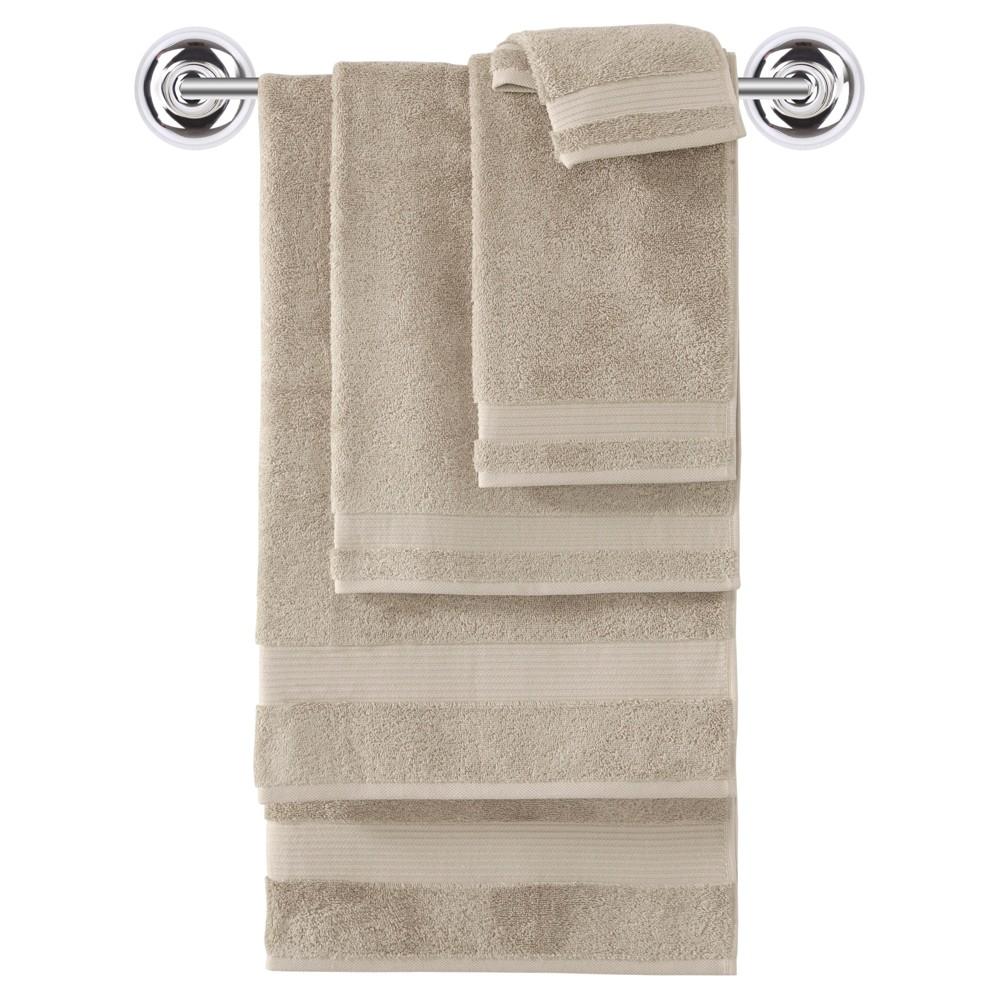 Image of 6pc Amadeus Turkish Bath Towel Set Khaki - Makroteks, Oh So Green