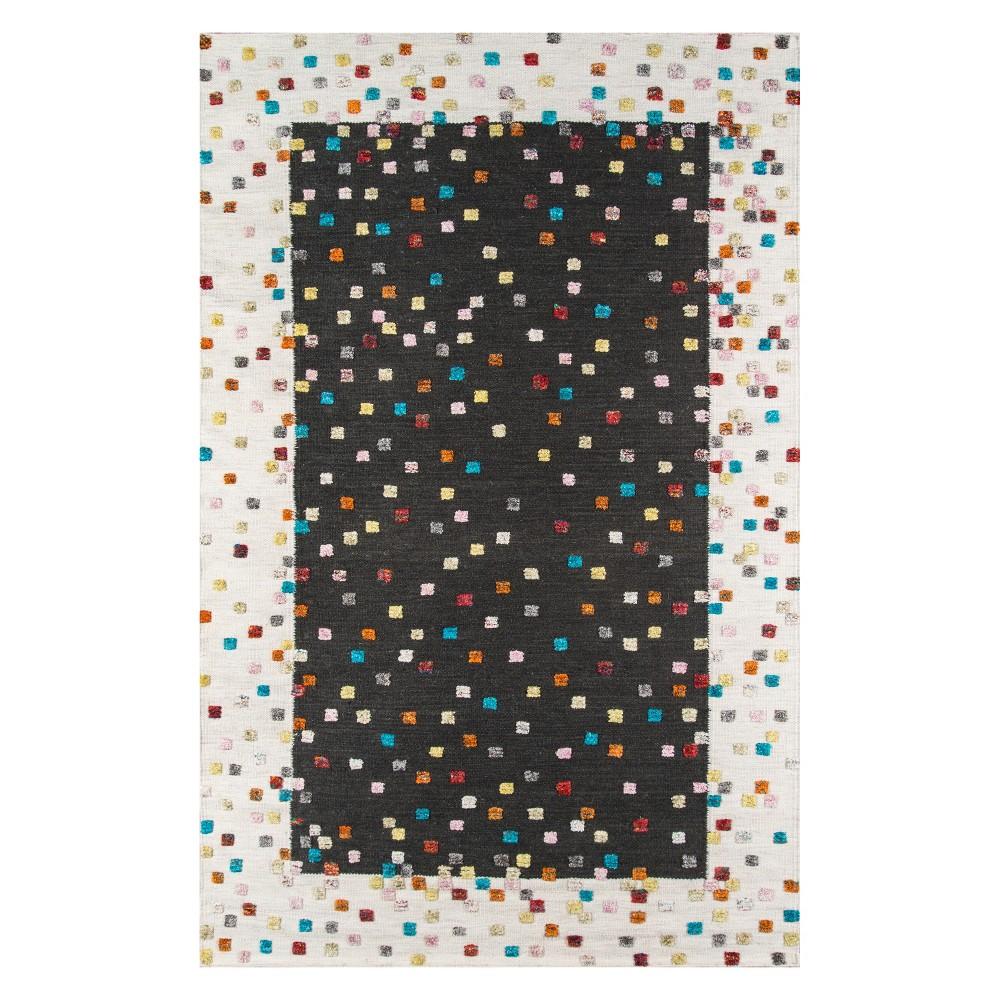 8'X10' Geometric Woven Area Rug Charcoal - Momeni, Gray