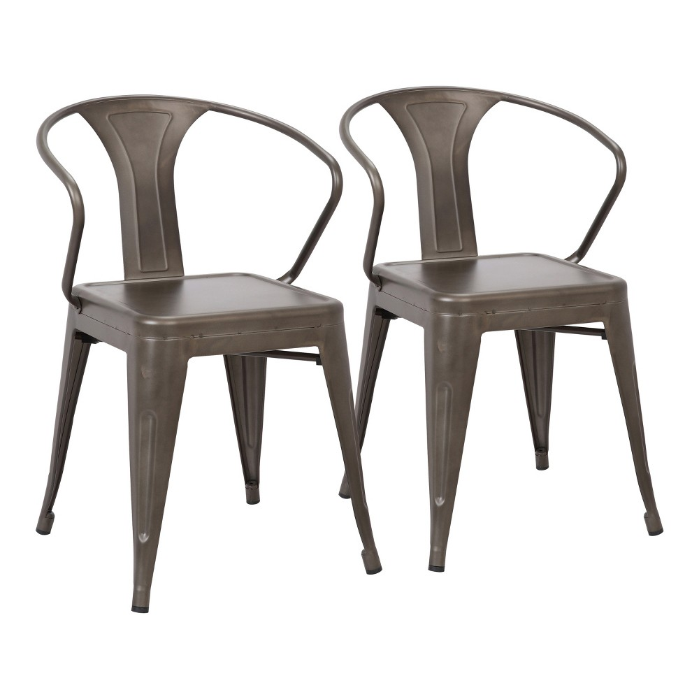 Set of 2 Waco Industrial Chairs Antique - LumiSource