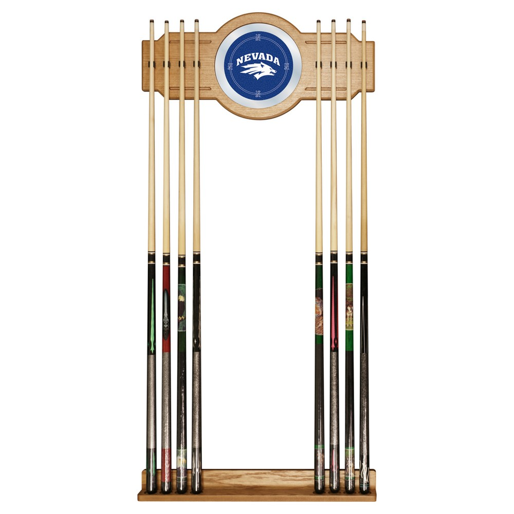 NCAA Nevada Wolf Pack Billard Cue Rack with Mirror