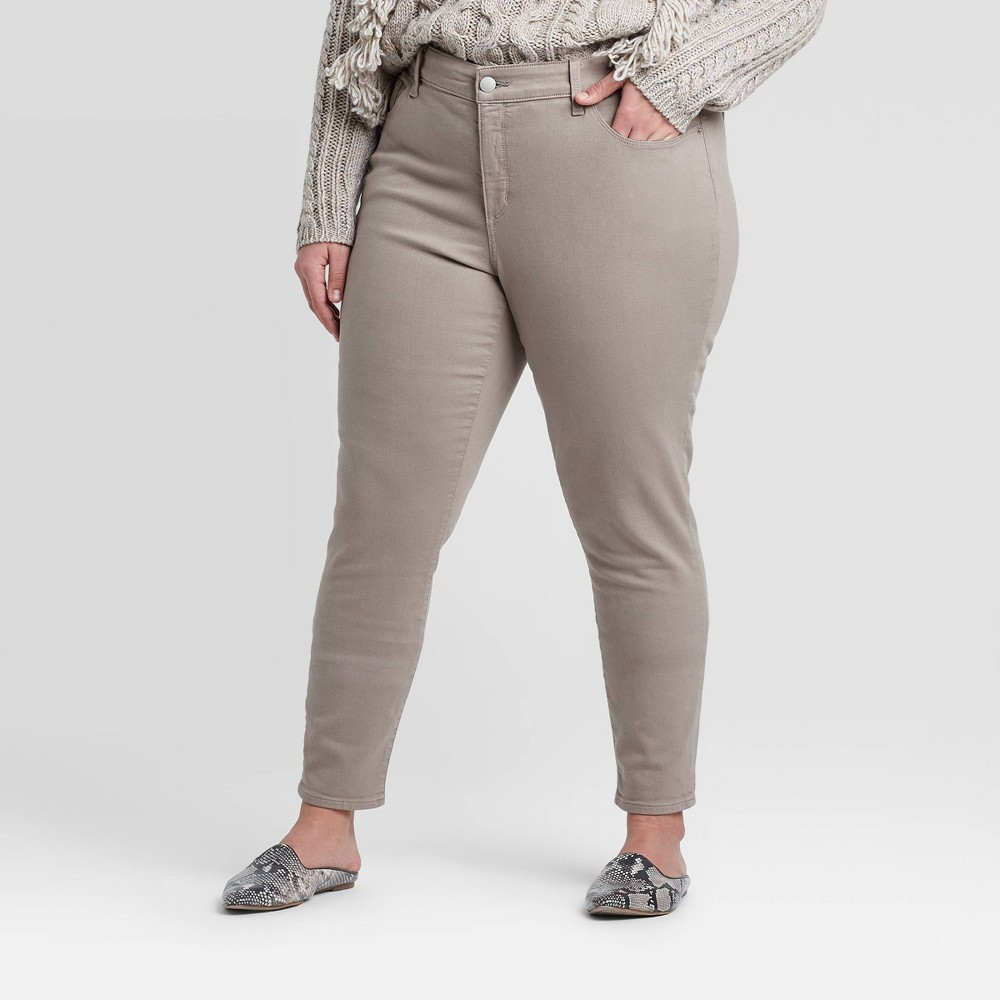 Women's Plus Size Mid-Rise Skinny Jeans - Universal Thread Gray 18W was $29.99 now $20.99 (30.0% off)