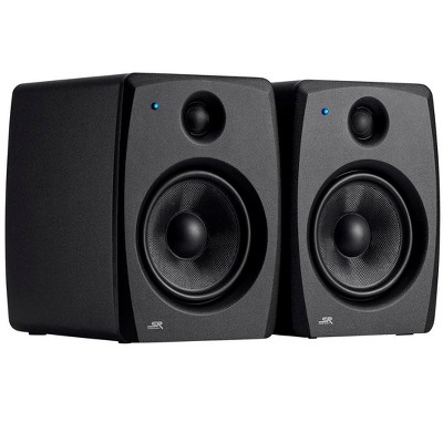 Monoprice SV28 8in Powered Studio Monitors (Pair) Bi-Amplified Design, Consistent Mix Transfer, Class AB Amp - Stage Right Series