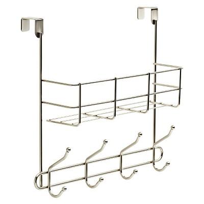 Over The Basket with Decorative Hook Rack Nickel - Room Essentials™