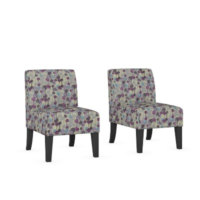 Set of 2 Rousse Upholstered Armless Chairs - Handy Living