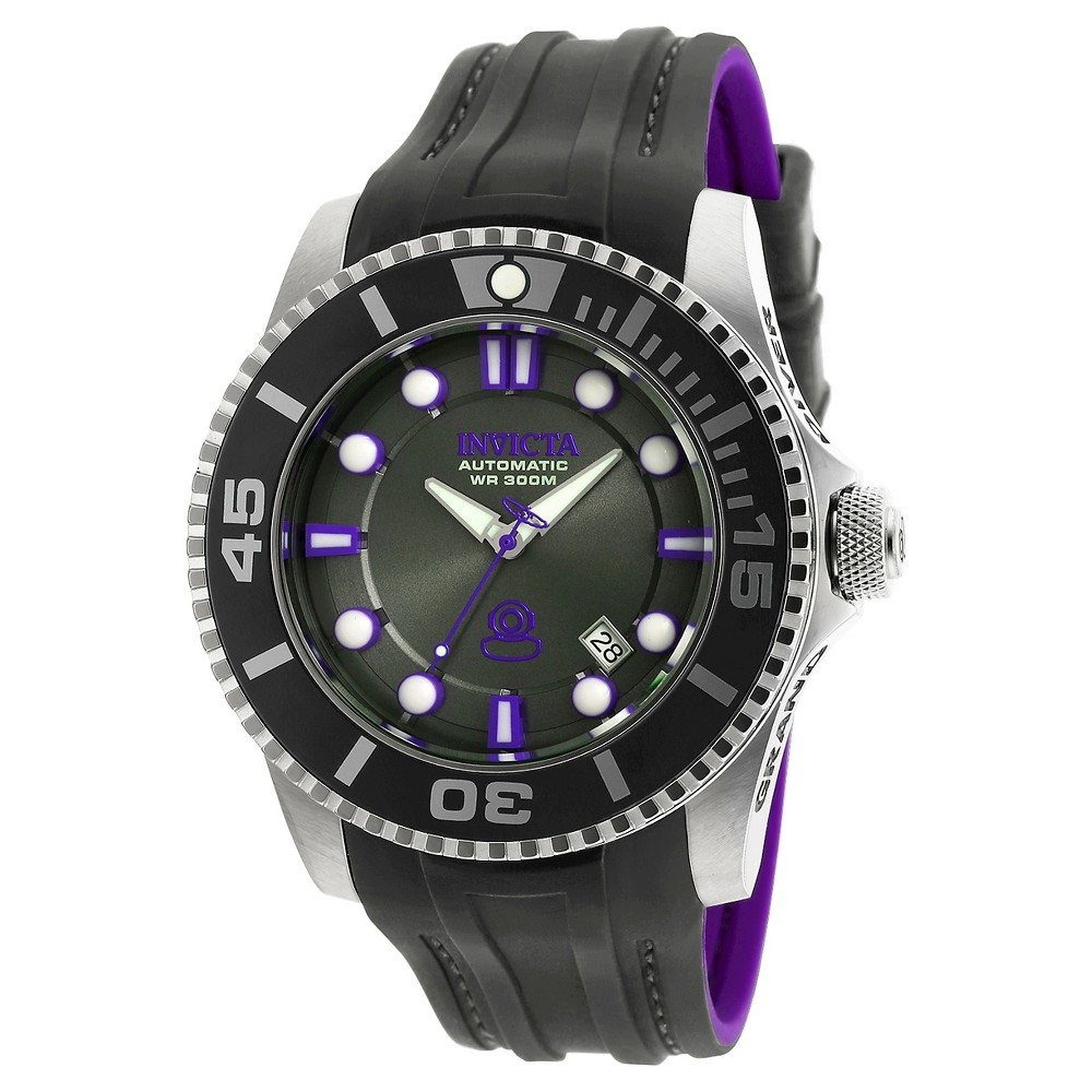 Men's Invicta 20201 Pro Diver Automatic 3 Hand Charcoal Dial Strap Watch - Charcoal, Rich Charcoal