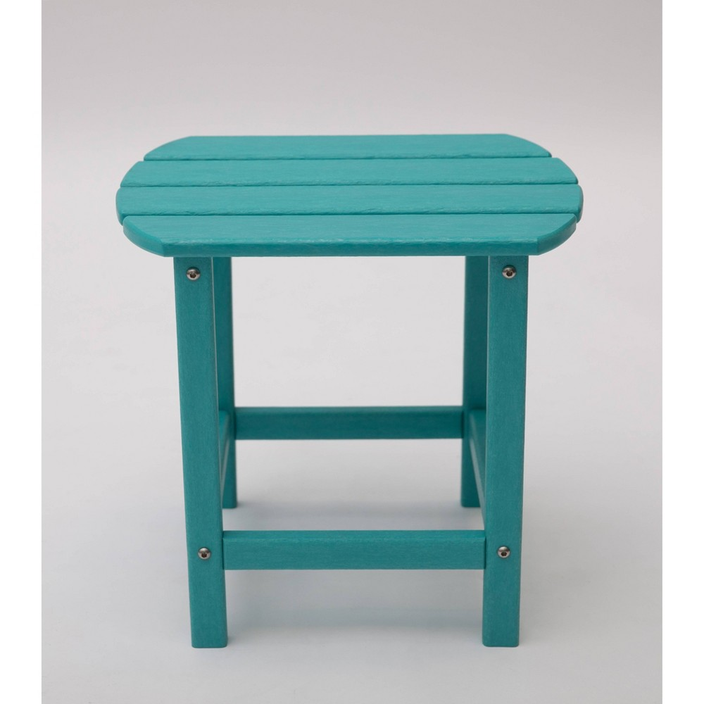 "Image of ""Corona 18"""" Recycled Plastic Side Table - Aruba Blue - LuXeo"""
