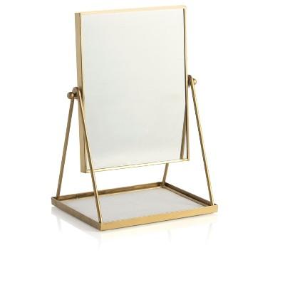Wallace Table Mirror With Display Tray - Shiraleah