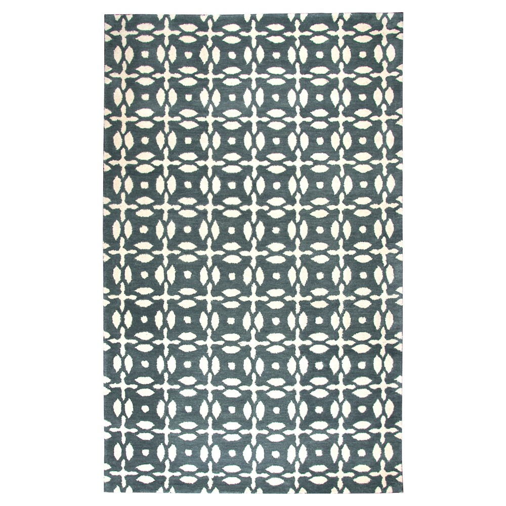 Image of 8'X10' Burst Area Rug Natural - Rizzy Home, White Gray