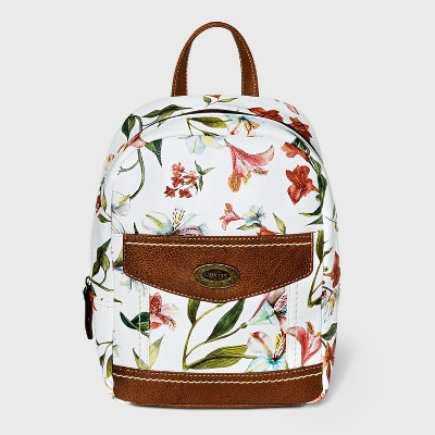 Concept Floral Print Backpack - White