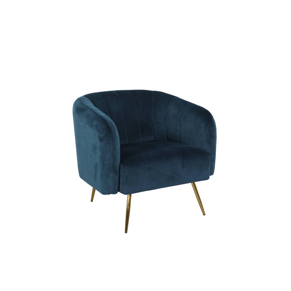 Vida Accent Chair Velvet Navy - HomePop was $299.99 now $224.99 (25.0% off)