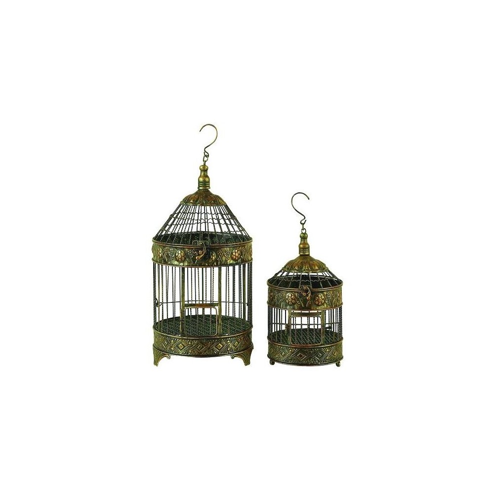 "Image of ""24""""H Iron Bird House - Bronze - Olivia & May, Yellow"""