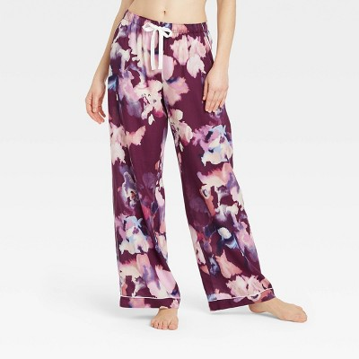 Women's Floral Print Simply Cool Pajama Pants - Stars Above™ Purple