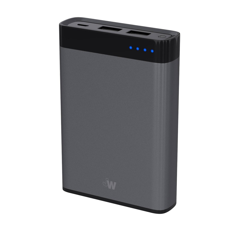 Just Wireless 2-Port Usb 8,000mAh Portable Power Bank - Slate, Space Gray
