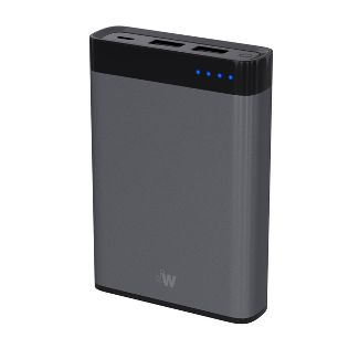 Just Wireless 8000mAh 2-Port Power Bank - Slate