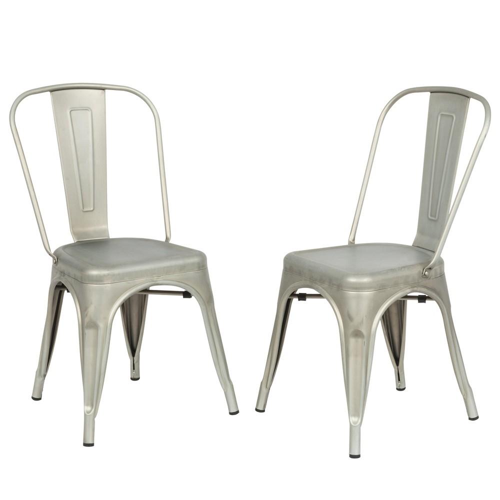 Sadie Metal Chair Set of 2 Gray - Carolina Chair and Table