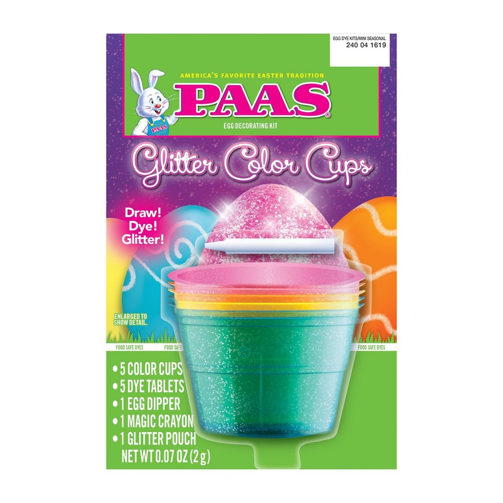 Image of Paas Easter Glitter Color Cups Egg Decorating Kit