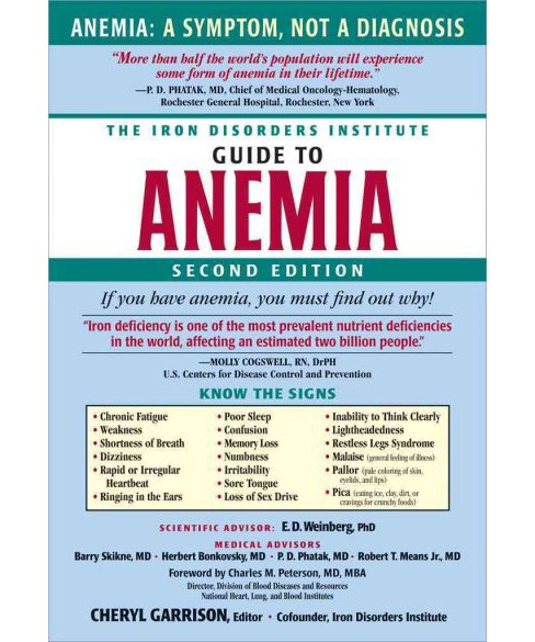 Iron Disorders Institute Guide to Anemia (Paperback) - image 1 of 1