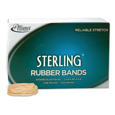 Alliance Sterling Ergonomically Correct Rubber Band, #16, 2-1/2 x 1/16, 2300 Bands/1lb Box