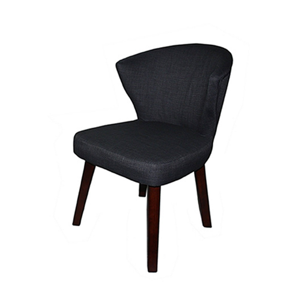 """Image of """"31"""""""" Concave Accent Chair Gray - Ore International"""""""