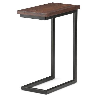 Skyler C Side Table   Dark Cognac Brown   Simpli Home