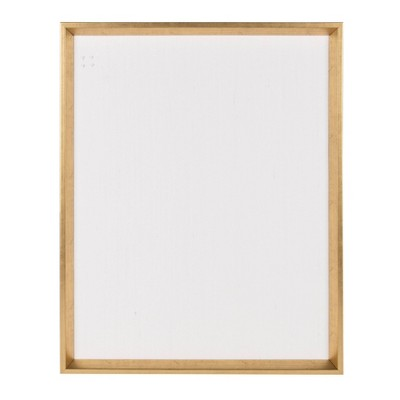 """28"""" x 21"""" Calter Framed Linen Fabric Pinboard Gold - Kate and Laurel"""
