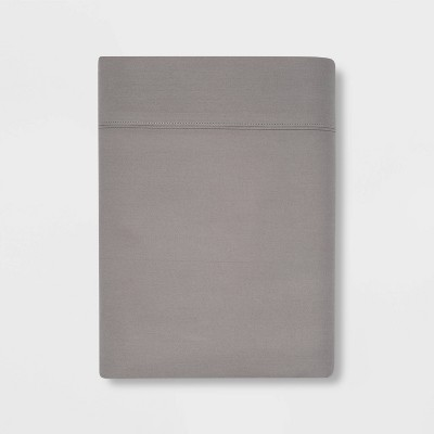 King 300 Thread Count Ultra Soft Flat Sheet Gray - Threshold™