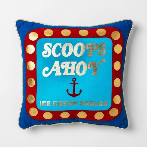 Stranger Things Scoops Ahoy Throw Pillow Blue - image 1 of 1