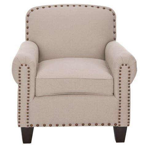 Abigail Club Chair Beige - Safavieh® - image 1 of 4